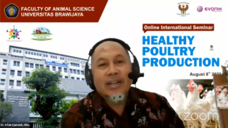 Dr. Irfan H. Djunaidi as one of the speakers in the Online Seminar of Healthy Poultry Production