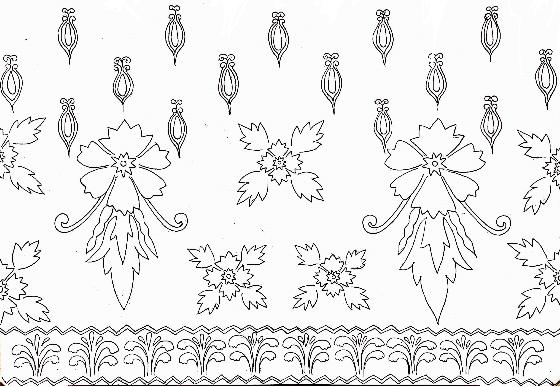 Get Motif Batik Hitam Putih Vector