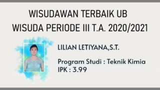 Lilian Letiyana, Wisudawan Terbaik UB Wisuda Periode III Tahun Akademik 2020/2021
