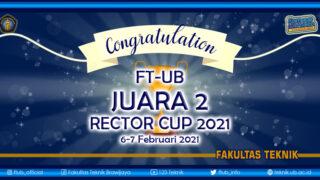 FT UB juara 2 Rektor Cup 2021